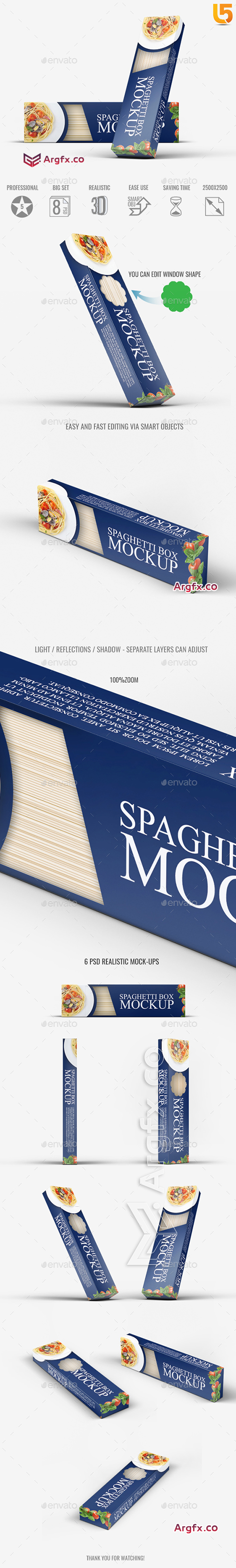 GraphicRiver - Spaghetti Box Mock-up 22600329