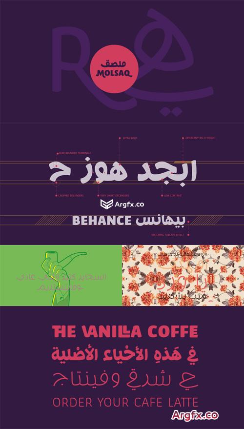 Molsaq Arabic Font Family $140