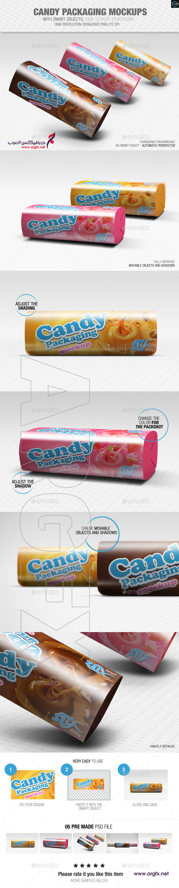 Candy Packaging Mockups 8864374