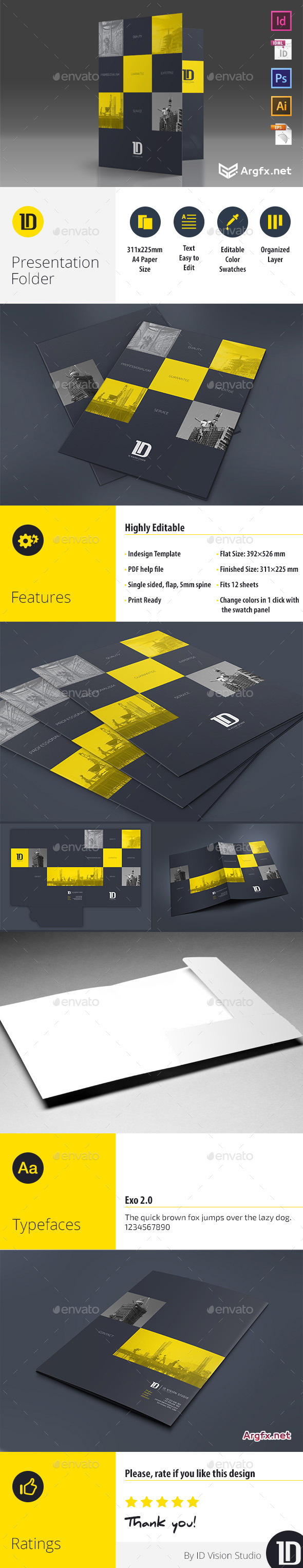 A4 Self Locking Multipurpose Presentation Folder 002 10497712