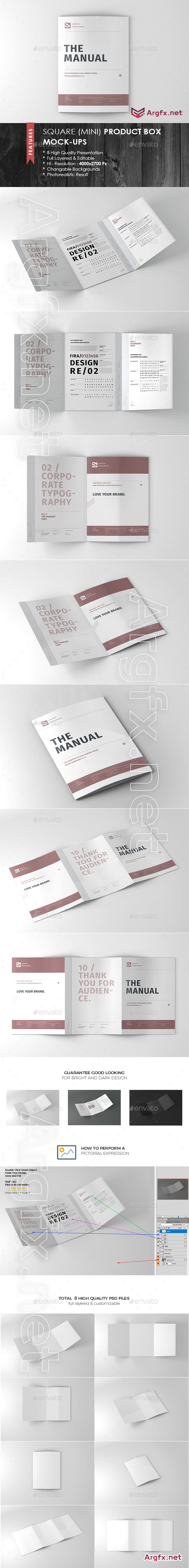 GraphicRiver - Tri-Fold A5 Brochure Mock-up 19122499