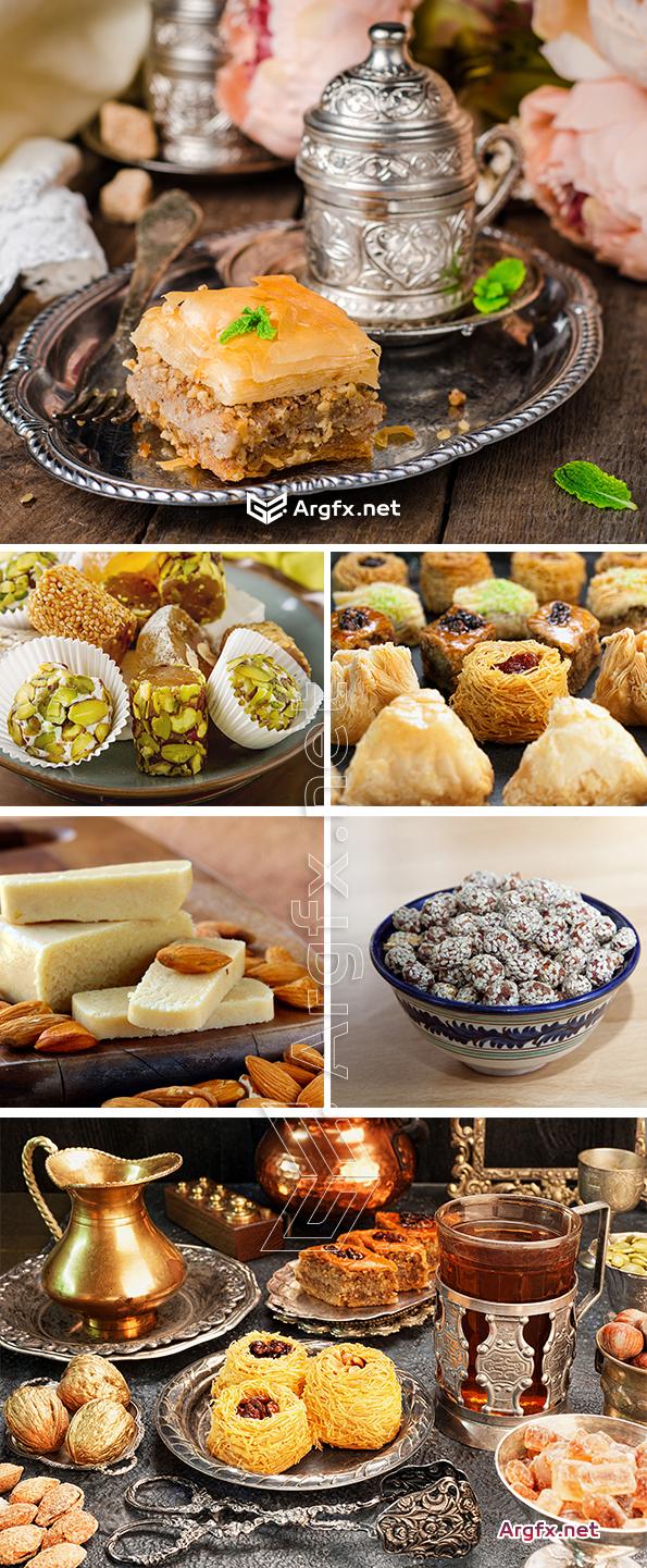Oriental sweets baklava halva pastila nougat rahat latucum 25 HQ Jpg