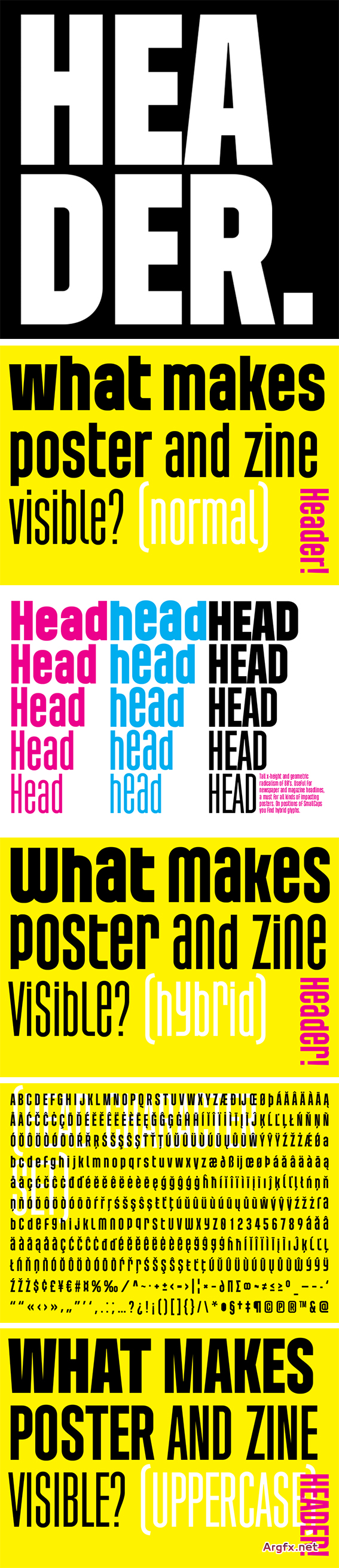 Header Font Family