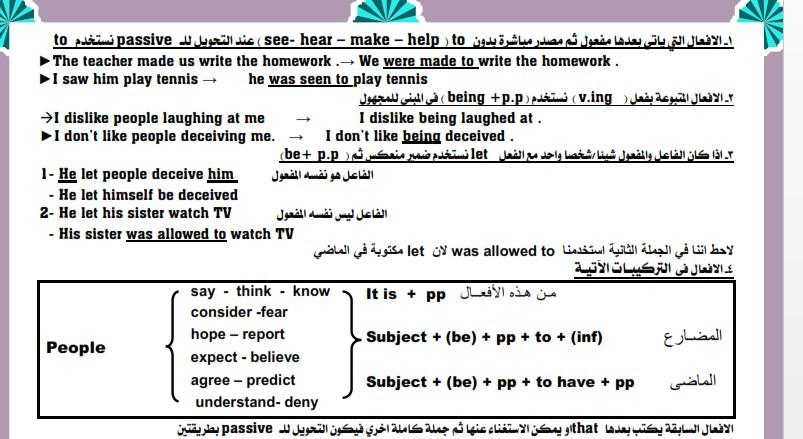 مذكرة قواعد رائعة اللغة الإنجليزية الصف الثانى الثانوى الفصل الدراسى الأول  2019 إعداد Mr.Mohamed.Fawzi – موقع الكافى التعليمي