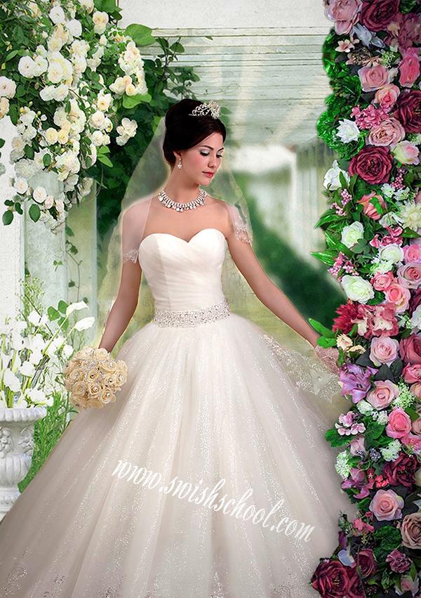 خلفية عروس جلسات تصوير الاستودويهات psd -خلفية زفاف عروسة الورد من تصميم هاجر 2018